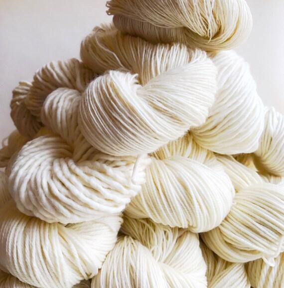 UNDYED yarn choose fingering, sock, dk, or bulky yarn