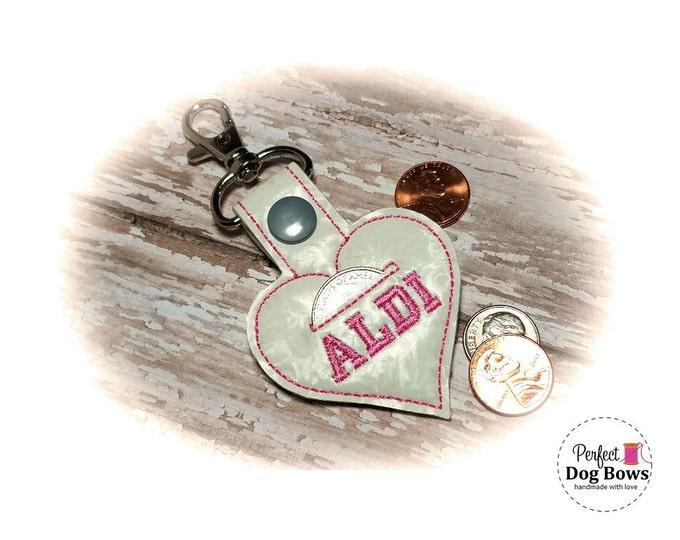 Heart Quarter Keeper, Heart Coin Keeper, Heart Quarter Holder, Heart Key Fob, Heart Key Ring