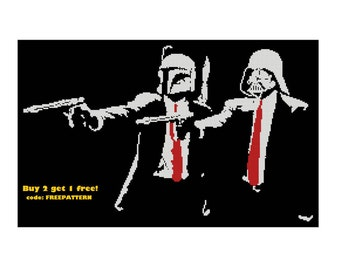 SW/PF Banksy Cross Stitch Pattern