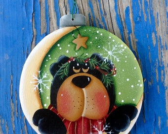 NEW 2017 - Over The Moon Bear Ornament