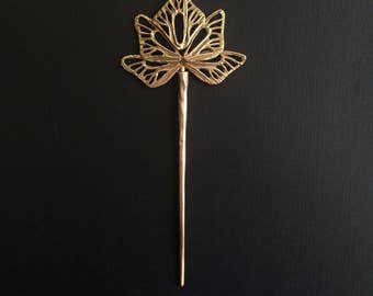 Seraph Hair Stick, Bronze, handmade by Jamie Spinello