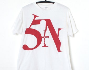 Vintage 80s NIN Nine Inch Nails SIN band T-shirt XL Industrial