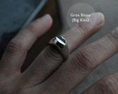 Gros or Petit Bisou silver ring
