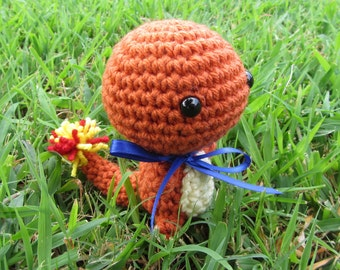 Ready to Ship - Crochet - Chibi Pokemon Amigurumi - Charmander. Pokemon Plush. Pokemon Go. Pokemon Cosplay. Anime Gift. Pokemon Gift.