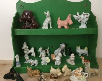 25 Dog and Cat Figures, for Terrariums, Putz Village, Dollhouses, JAPAN, Occupied Japan, WADE England, Instant Collection