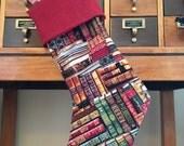 Library Books Stocking (No Personalization)