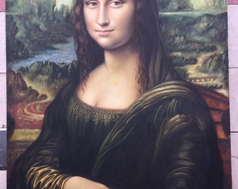 Mona Lisa reproduction oil painting on canvas, made to order, 100% money back guarantee