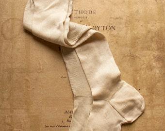 Vintage Girls Silk Stockings - Victorian Clothing  - Girls Room Decor
