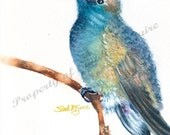 "Notecard ""Blue Hummingbird"" by Sandi McGuire"