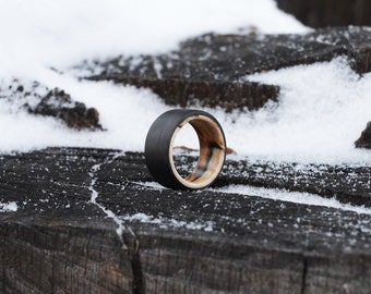 Maple and Carbon Fiber Ring - Bound Wood Ring