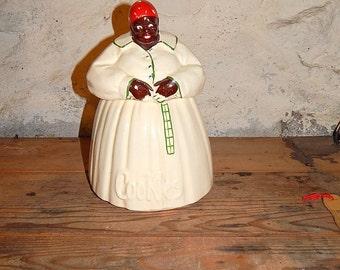 McCoy Mammy Cookie Jar Vintage Cookie Jar Black Americana Checked Apron Heirloom Cookie Jar Vintage Mammy,