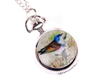 Bird Necklace Pocket watch 2222m