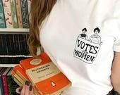 Votes for Women T-Shirt - Feminist Tshirt - Charity Tee - The Suffragettes - Girl Power Tee Shirts - Slogan T-shirt - Feminism - Womens