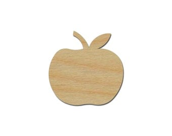 Apple Shape Unfinished Wood Fruit Cutout Variety of Sizes  Artistic Craft Supply