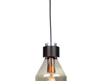EQLight Smoked Glass Pendant Industrial Collection