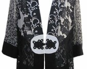 Over-Shirt in Black and White by Spencer Alexis - Fits Size Small
