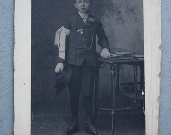 Late 1800s, Antique Communion Photo of Young Boy