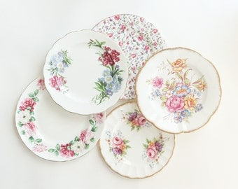 Springtime Flowers Pretty Plates Collection Set of 5