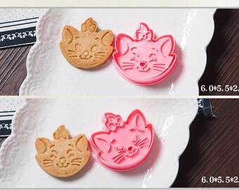 Marie the Cat Cookie Cutter Mold Set - 2 pc set - Walt Disney Marie Aristocats Berlioz Toulouse