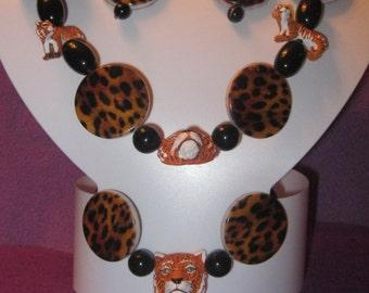 TIGER and ANIMAL PRINT Jewelry Set