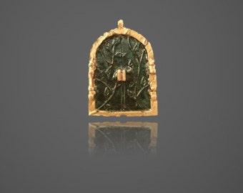 Hobbit Inspired Hand Painted Metal Door Pendant