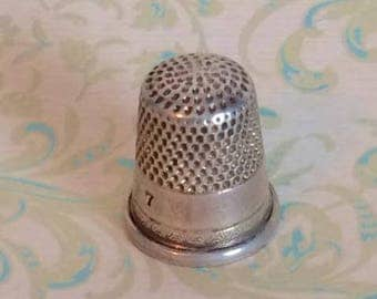 Antique Thimble, Sterling Silver, Ketcham McDougall, Vintage Sewing, Collectible Sterling