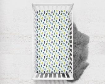 Fitted Crib Sheet Robot. Blue Fitted Crib Sheet. Robot Baby Bedding. Humanoid Crib Sheet. Space Crib Sheet. Green Crib Sheet.