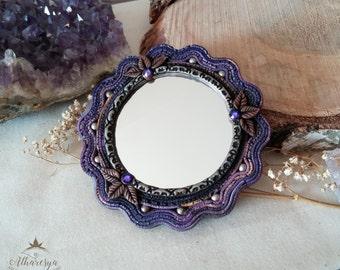Purple Gypsy handbag mirror