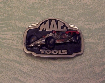 Limited edition Great American Buckle Company Mac Tools race car racing belt buckle