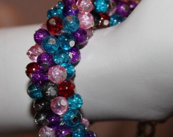 Muliticolor Pearl Bracelet, Multicolor Pearl Jewelry, Muliticolor Beaded Bracelet, Multicolor Beaded Jewelry, Bracelet with Multicolor Pearl