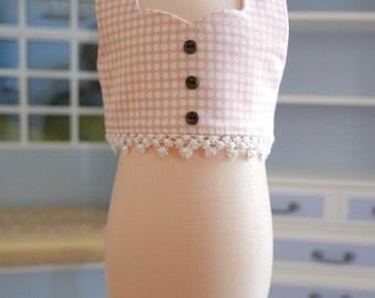 Pink Polka Dot Crop Top fits 18 inch American Girl Dolls
