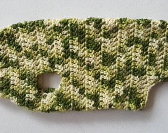 Ready to ship: Doggy Jumper - Green Handmade Wool Dog Jacket