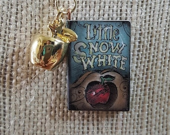 Snow White Book Charm Necklace