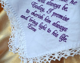 Mother of the groom gift from bride Wedding Handkerchief for mother Wedding gift for Mother in law Wedding gift for Mom wedding gift parents