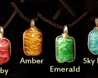 Hand Made Glass Necklaces - Lampwork Glass Pendants - Glass Cremation Jewelry Urns