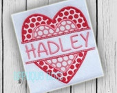 Double Split Heart Digital Applique Design - Valentine's Day - Valentine's Day Applique Design - Valentine's Day Embroidery Design