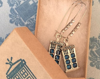 Doctor Who Inspired Earrings Bridesmaid Gift Wedding Jewelry