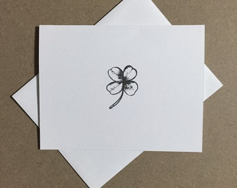 lucky clover card / stationary