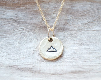 Mountain Necklace, Nature Jewelry,Wanderlust Jewelry,The Mountains Are Calling And I Must Go,Climb Every Mountain,Gift for Traveler,Outdoors