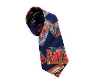 vintage tie silk necktie car tie Vintage GATSBY style Mens Necktie Men tie for groomsmen tie wedding neckties car neckties car print
