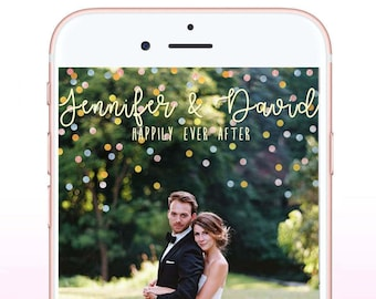 Wedding Geofilter, Custom Wedding Snapchat Filter, Wedding Snapchat Filter, Personalied Wedding Geofilter, Snapchat Geofilter