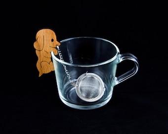 Tea Buddy™ dog tea infuser, dog lover gift, tea ball, pet lover gift for her, for him, loose leaf tea steeper, lose tea strainer, diffuser