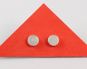 Earring_round__Wave_ Design - Upcycling