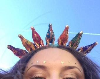 Elephant festival party crown / headband