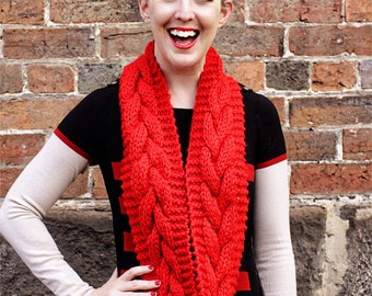 Chunky Cable Cowl - pdf knitting pattern