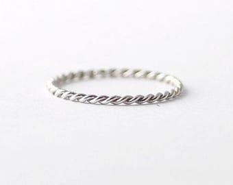 Braided Platinum Twist Band: Simple Wedding Rings
