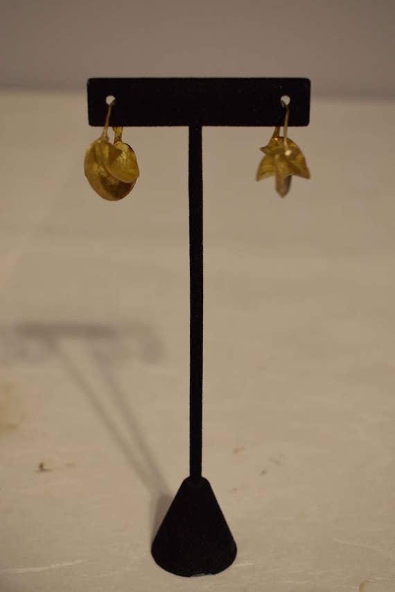 Earrings African Fulani Vintage Brushed Gold Brass Fulani Women Earrings Handmade Brushed Gold Brass Women Tribal Earrings