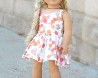 Geometric Print Wrap Dress for American Girl Dolls