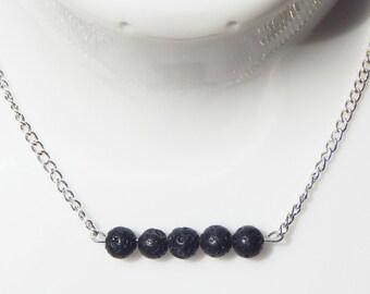 Lava Rock Necklace, Lava Stone Necklace, Diffuser Necklace, Lava Rock, Essential Oil Necklace, Layering Necklace, Lava Stone, Minimalist