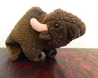 "TY Brown Bison Buffalo Beanie Baby ""Roam"" (B)"